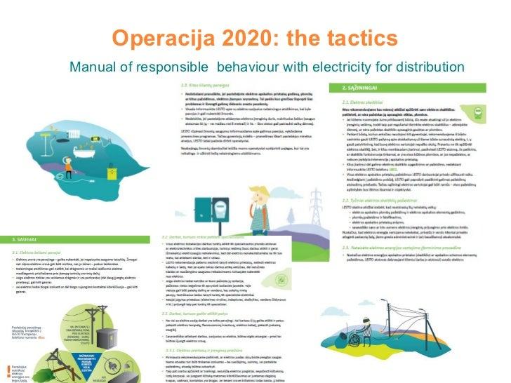 Operacija 2020: the tactics Manual of responsible  behaviour with electricity for distribution