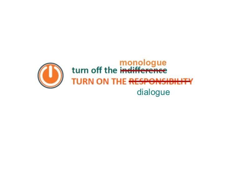 monologue dialogue