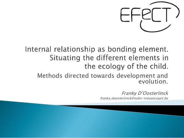Methods directed towards development and                                evolution.                                Franky D...