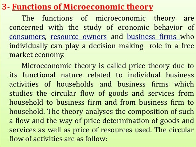 an analysis of the microeconomics theories An attempt is made to assess the current state of knowledge in the area of microeconomic analysis of fertility behavior with the focus on theories relevant to the us and other industrial countries, the advantages and disadvantages of the consumer theory approach to fertility are examined.