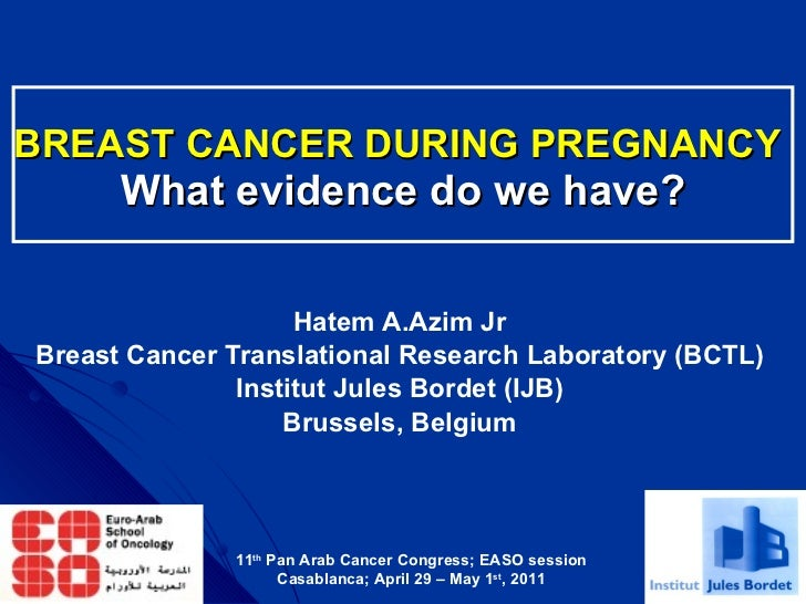 BREAST CANCER DURING PREGNANCY   What evidence do we have? Hatem A.Azim Jr Breast Cancer Translational Research Laboratory...