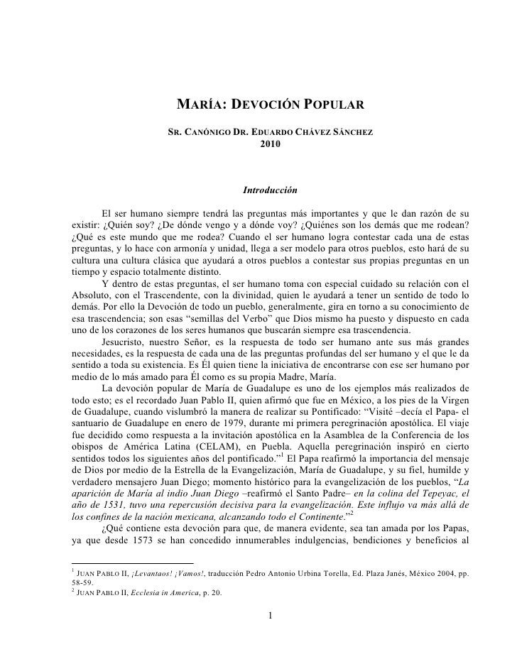 MARÍA: DEVOCIÓN POPULAR                            SR. CANÓNIGO DR. EDUARDO CHÁVEZ SÁNCHEZ                                ...