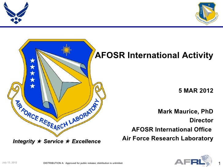 AFOSR International Activity                                                                                              ...