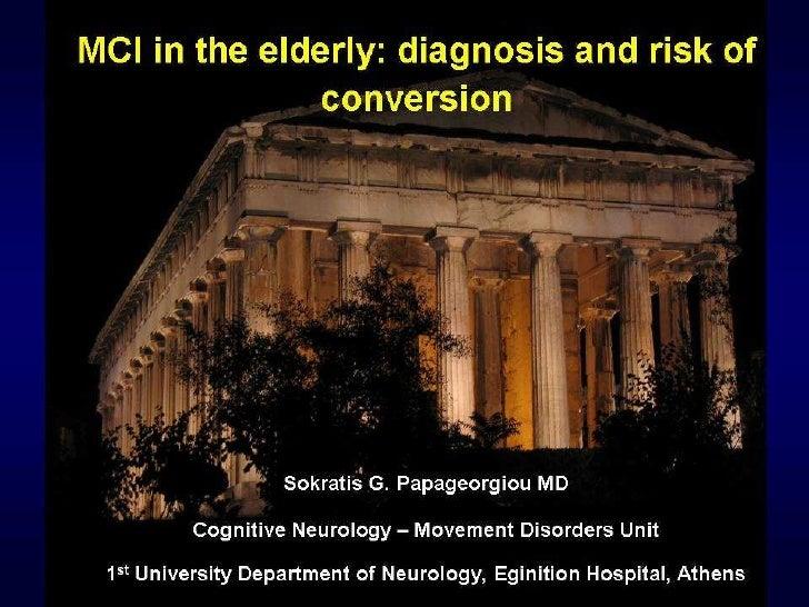 MCI in the elderly