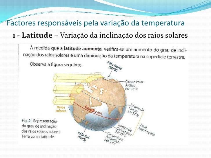 Geografia meio natural for Temperatura frigo da 1 a 7