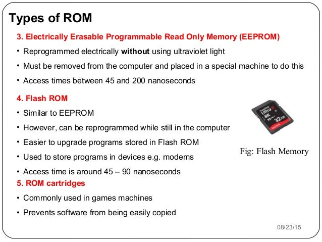 what are the types of rom