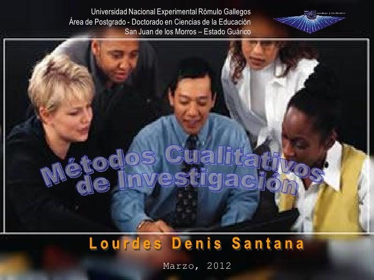 Universidad Nacional Experimental Rómulo GallegosÁrea de Postgrado - Doctorado en Ciencias de la Educación                ...