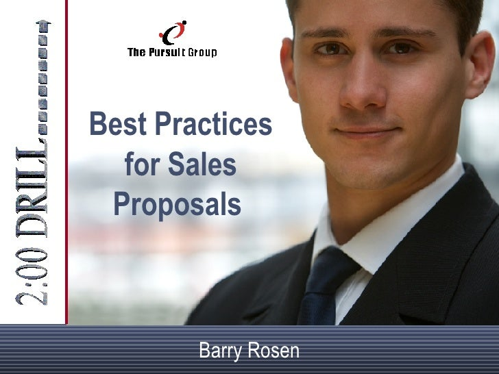 Best Practices for Sales Proposals   Barry Rosen