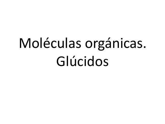 Moléculas orgánicas. Glúcidos