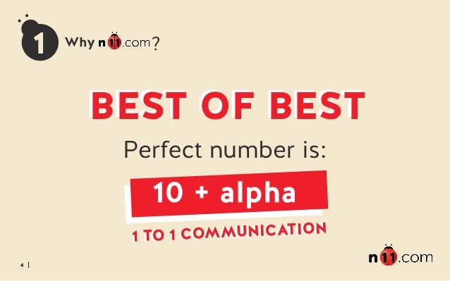 4 1 BEST OF BESTBEST OF BEST 1 TO 1 COMMUNICATION1 TO 1 COMMUNICATION