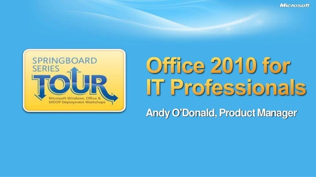 Andy O'Donald, Product Manager