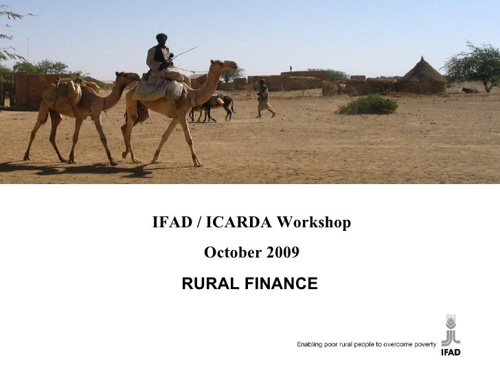 Results and Impact Management System (RIMS) RURAL FINANCE IFAD / ICARDA Workshop October 2009