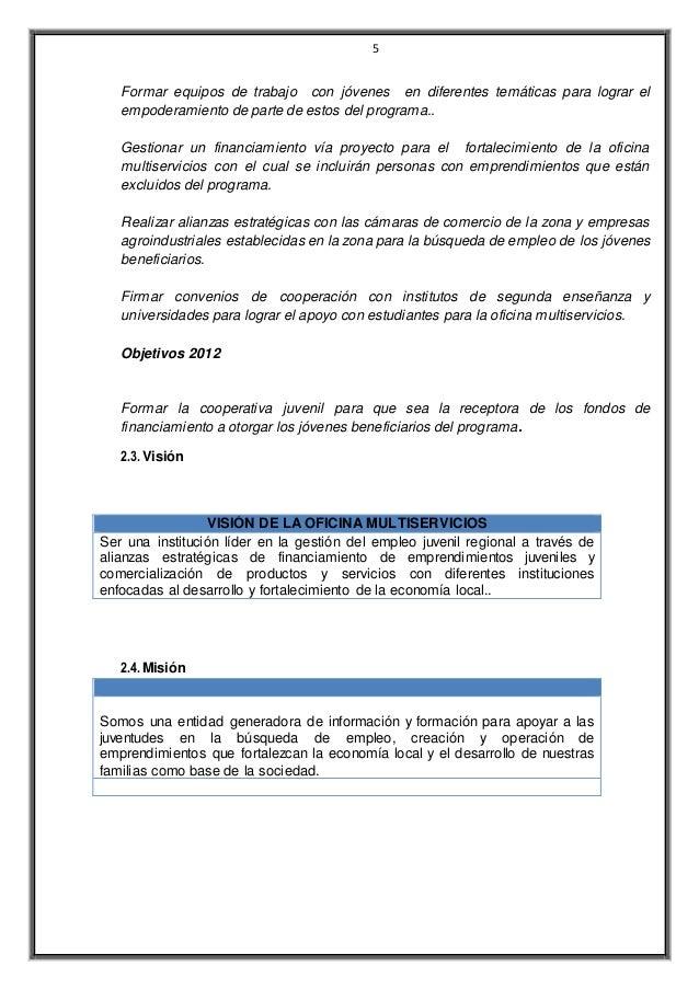 PROPUESTA OFICINA MULTISERVICIOS DE CANE
