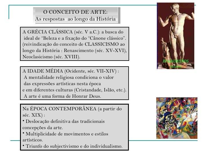 """A GRÉCIA CLÁSSICA (séc. V a.C.): a busca do ideal de """"Beleza e a fixação do """"Cânone clássico"""". (reivindicação do conceito ..."""
