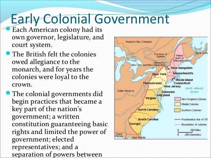 colonial governments