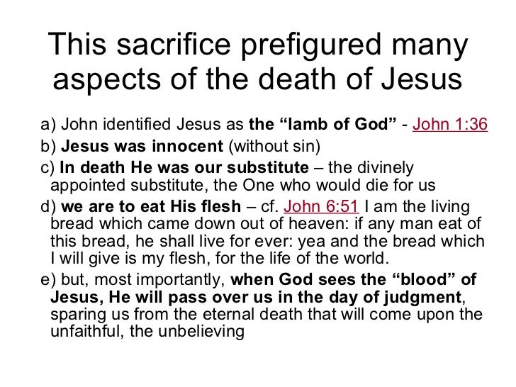 Jesus - our passover