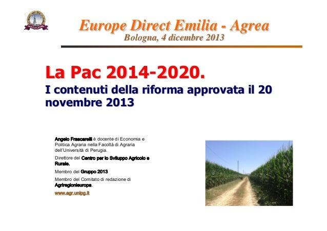 Angelo Frascarelli è docente di Economia e Politica Agraria nella Facoltà di Agraria dell'Università di Perugia. Direttore...