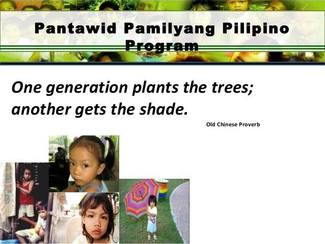 pantawid pamilya program Dswd-ncr strengthens pantawid pamilya pilipino program with their new partners 29 january 2018 to further enhance the impact of the pantawid pamilya program which.