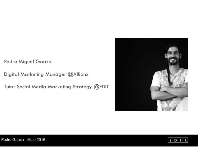 Industry Sessios by EDIT. - Talk #3 - Pedro Garcia Slide 2