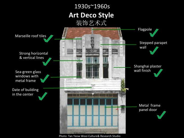 Penang Shophouse Styles