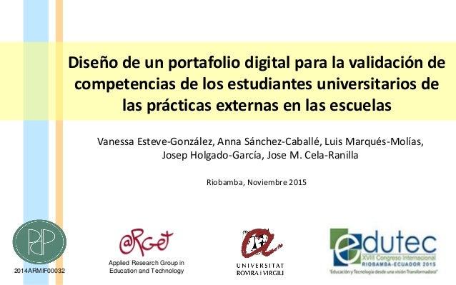 Diseño de un portafolio digital para la validación de competencias de los estudiantes universitarios de las prácticas exte...
