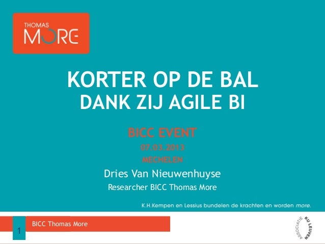 KORTER OP DE BAL                 DANK ZIJ AGILE BI                            BICC EVENT                               07....