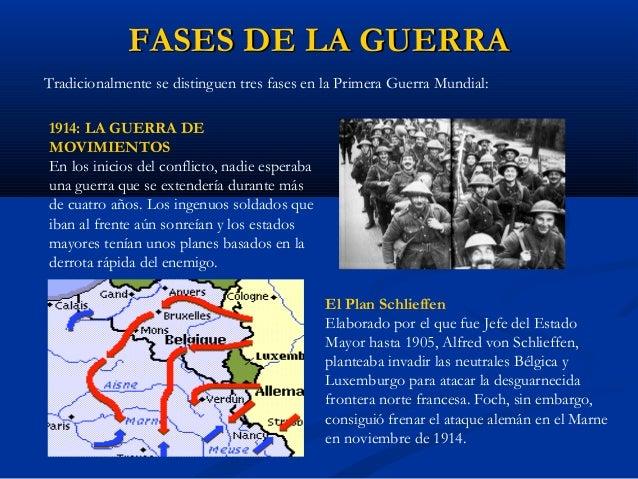 FASES DE LA GUERRAFASES DE LA GUERRA LA GUERRA DE TRINCHERAS Fue un martirio para millones de hombres durante varios años.