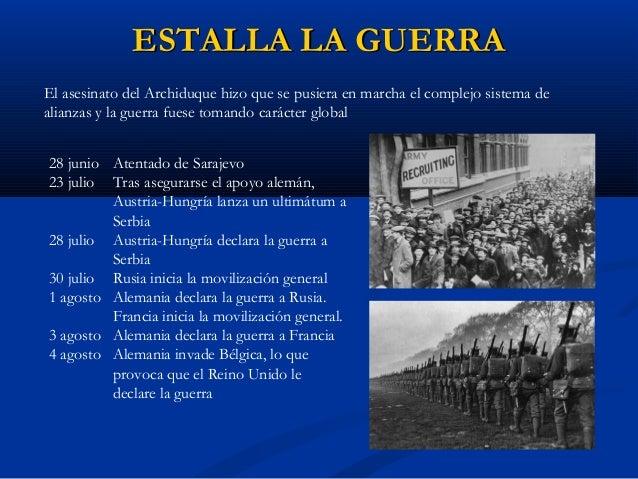 FASES DE LA GUERRAFASES DE LA GUERRA Tradicionalmente se distinguen tres fases en la Primera Guerra Mundial: 1914: LA GUER...