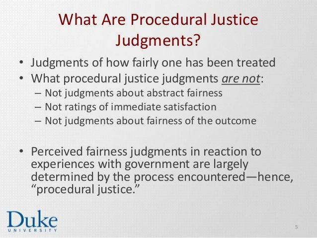 procedural justice example