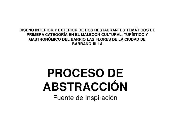 DISEÑO INTERIOR Y EXTERIOR DE DOS RESTAURANTES TEMÁTICOS DE PRIMERA CATEGORÍA EN EL MALECÓN CULTURAL, TURÍSTICO Y GASTRONÓ...