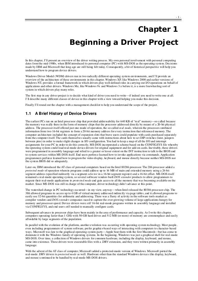2 programming the microsoft windows driver model 2nd edition