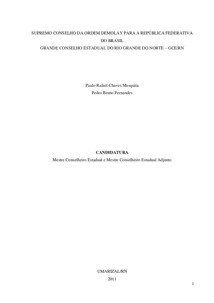 SUPREMO CONSELHO DA ORDEM DEMOLAY PARA A REPÚBLICA FEDERATIVA                                 DO BRASIL   GRANDE CONSELHO ...