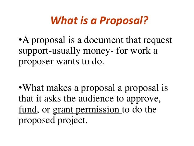 How to write a proposal -writing  Slide 2