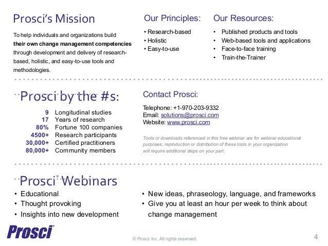 Prosci Change Management Webinar Building Organizational Agility