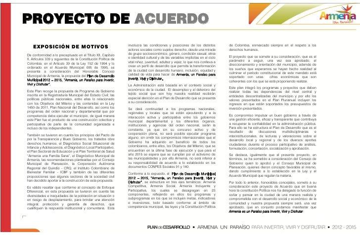 PROYECTO DE ACUERDO                                                                involucra las condiciones y posiciones ...