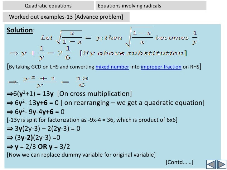 quadratic equations-1