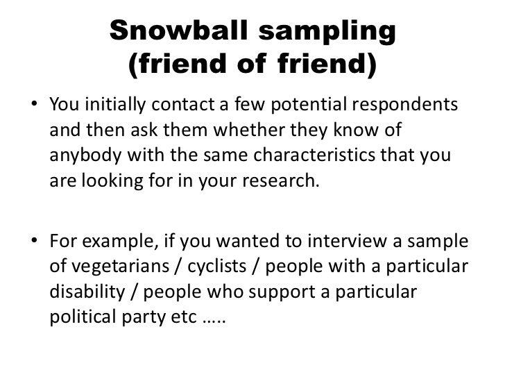 snowball selecting situation study
