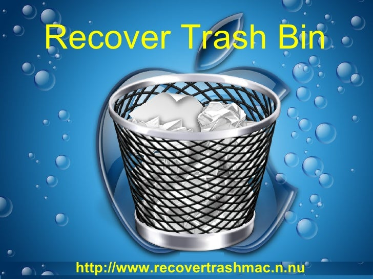 Recover Trash Bin Folder On Mac To Get Back Your Deleted Data