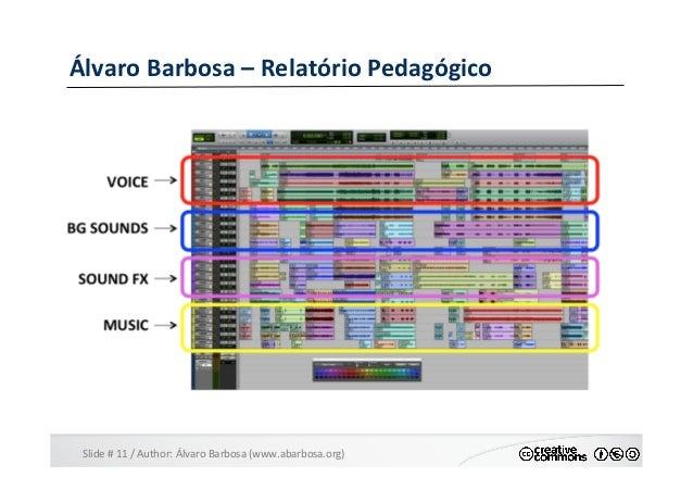 Slide  #  11  /  Author:  Álvaro  Barbosa  (www.abarbosa.org)   Álvaro  Barbosa  –  Relatório  Ped...