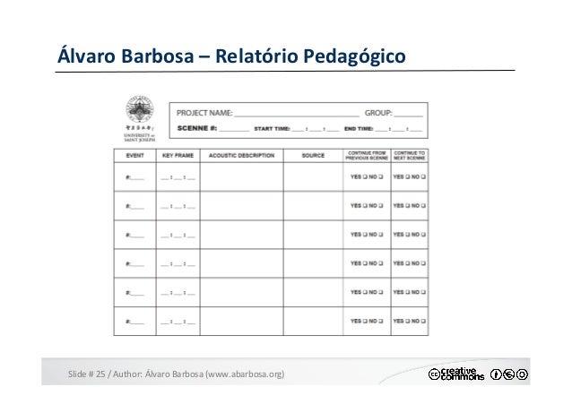 Slide  #  25  /  Author:  Álvaro  Barbosa  (www.abarbosa.org)   Álvaro  Barbosa  –  Relatório  Ped...