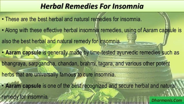 7 Effective Herbal Remedies For Insomnia