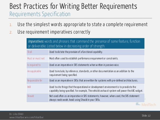 What Makes Good Requirements Documentation?
