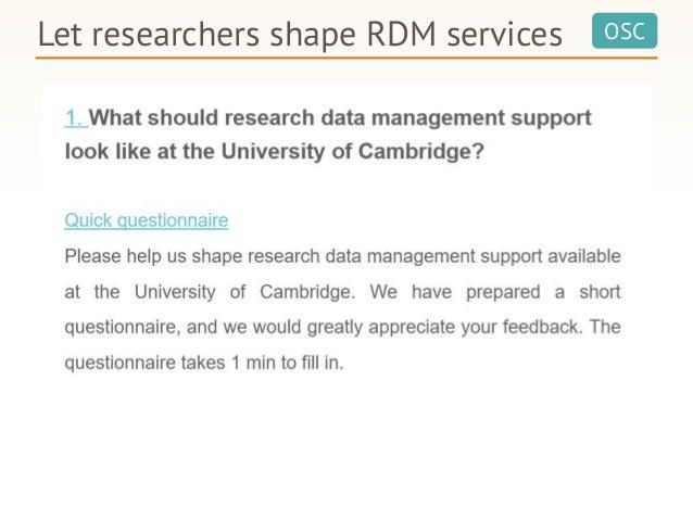 OSCLet researchers shape RDM services