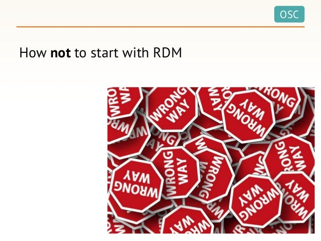 OSC How not to start with RDM