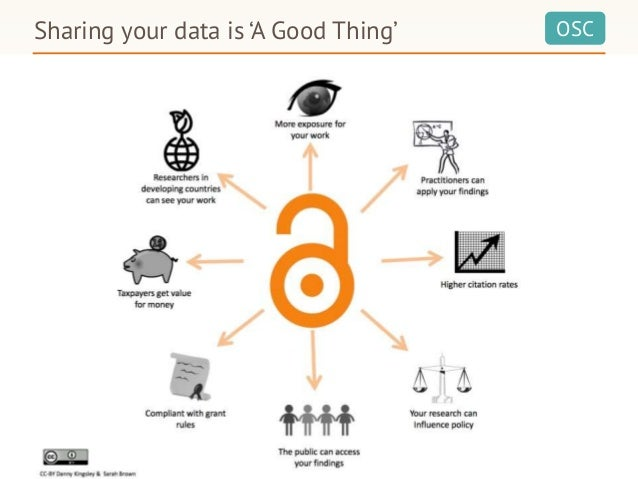 OSCSharing your data is 'A Good Thing'