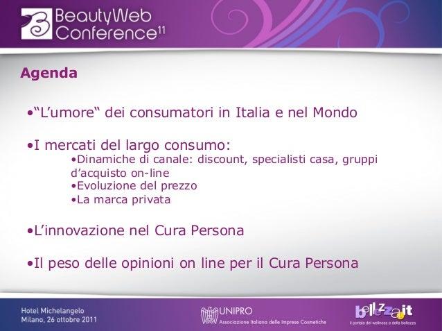 Beauty care e attuale scenario dei consumi: fatti, cifre, tendenze di sviluppo Slide 2