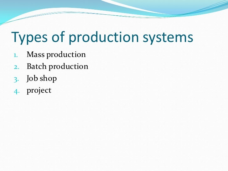 2.  scope of operations management
