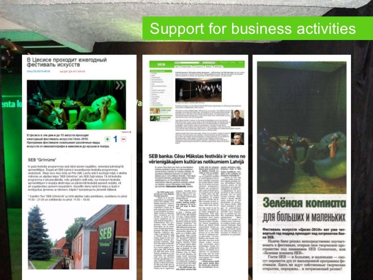 Support for business activities