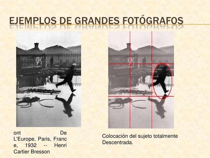 Ejemplos de grandes fotógrafos<br />ont De L&apos;Europe, Paris, France, 1932 -- Henri Cartier Bresson<br />Colocación del...