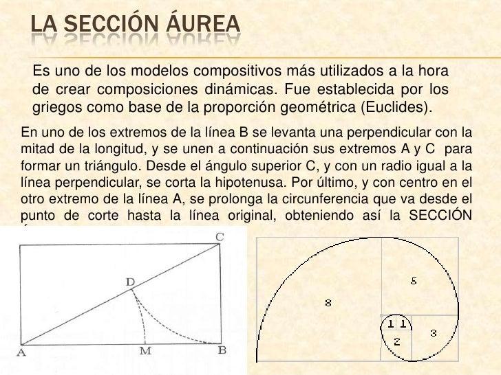 La sección áurea<br />Es uno de los modelos compositivos más utilizados a la hora de crear composiciones dinámicas. Fue es...